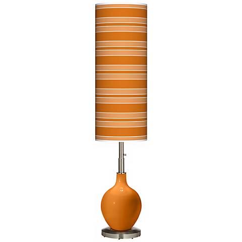 Cinnamon Spice Bold Stripe Ovo Floor Lamp