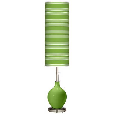 Rosemary Green Bold Stripe Ovo Floor Lamp