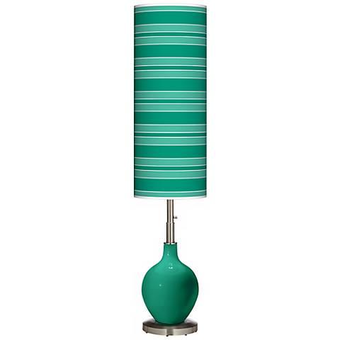 Leaf Bold Stripe Ovo Floor Lamp