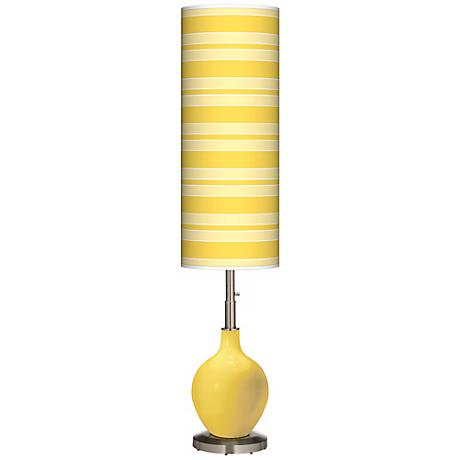 Lemon Zest Bold Stripe Ovo Floor Lamp