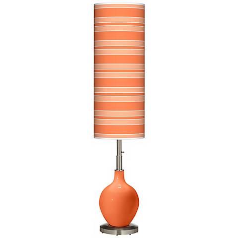 Nectarine Bold Stripe Ovo Floor Lamp