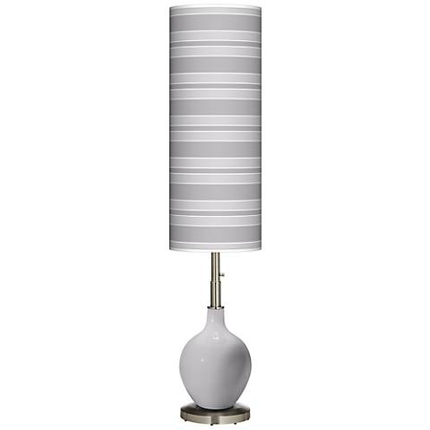 Swanky Gray Bold Stripe Ovo Floor Lamp