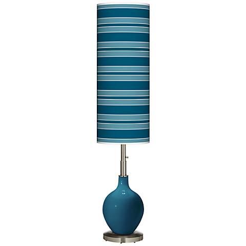 Oceanside Bold Stripe Ovo Floor Lamp