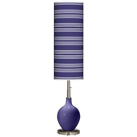 Valiant Violet Bold Stripe Ovo Floor Lamp