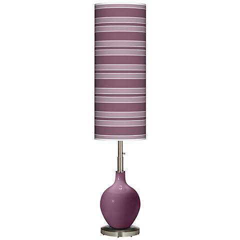 Grape Harvest Bold Stripe Ovo Floor Lamp