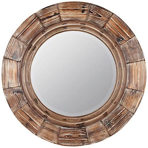 """Cooper Classics Bellini 30 3/4"""" Round Wall Mirror"""