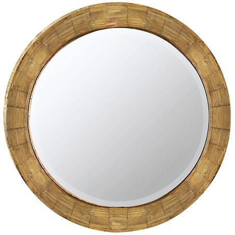 "Cooper Classics Kettler 31 1/4"" Round Wall Mirror"