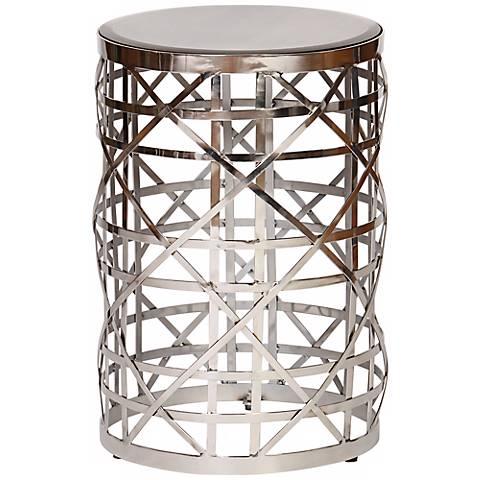 Eldridge Antique Mirror Contemporary Drum Table