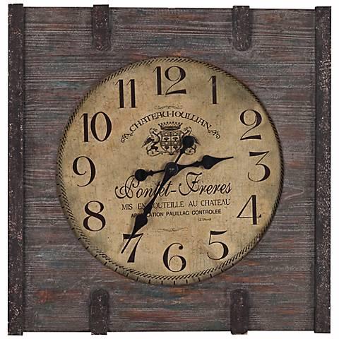 """Cooper Classics St. Clair 23 1/2"""" Square Wood Wall Clock"""