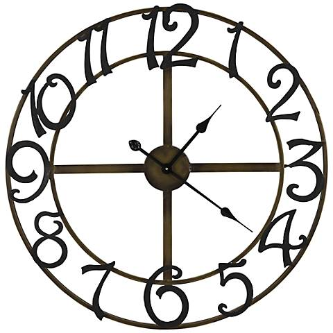 "Cooper Classics LaSalle 25 1/4""W Metal Wall Clock"