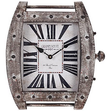"Cooper Classics Eton 17 1/4""H Wristwatch Metal Wall Clock"