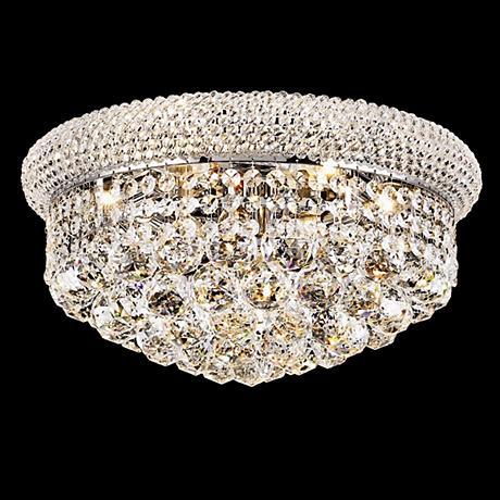 Primo 8-Light  Royal Cut Crystal and Chrome Ceiling Light