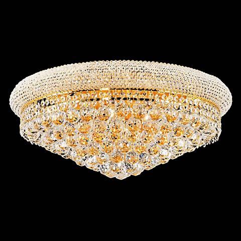 Primo Royal Cut Crystal 12 Light Flushmount Chandelier