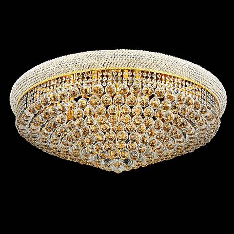 Primo 20-Light  Royal Cut Crystal and Gold Ceiling Light