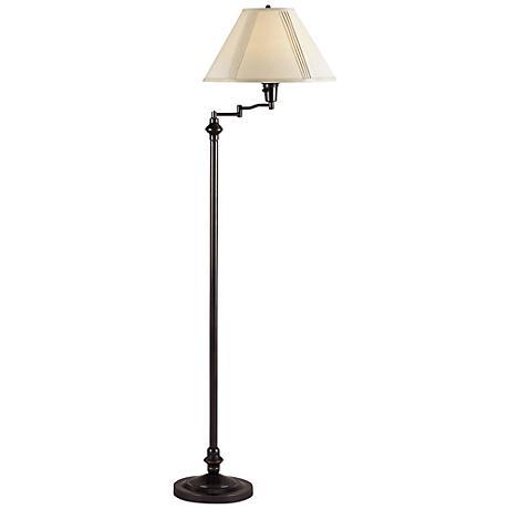Bellhaven Dark Bronze Swing Arm Floor Lamp