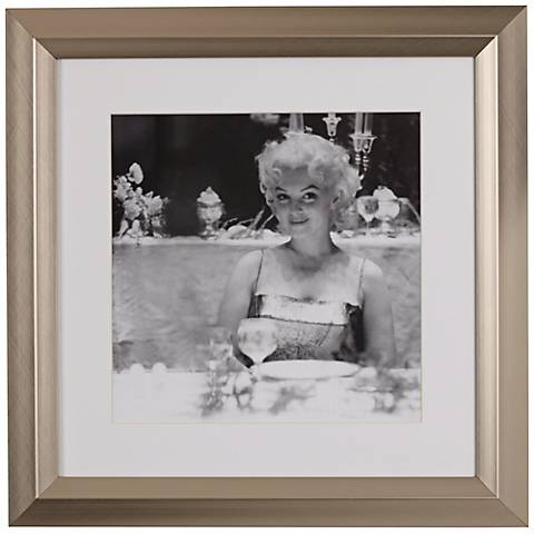 """Marilyn Monroe Dining 19 1/2"""" High Black and White Wall Art"""