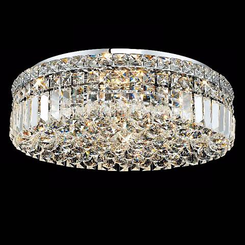 """Maxim Collection 20"""" Wide Round Crystal Ceiling Light"""