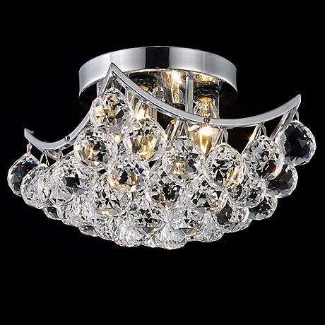 "Corona 10"" Wide Crystal Ceiling Light"