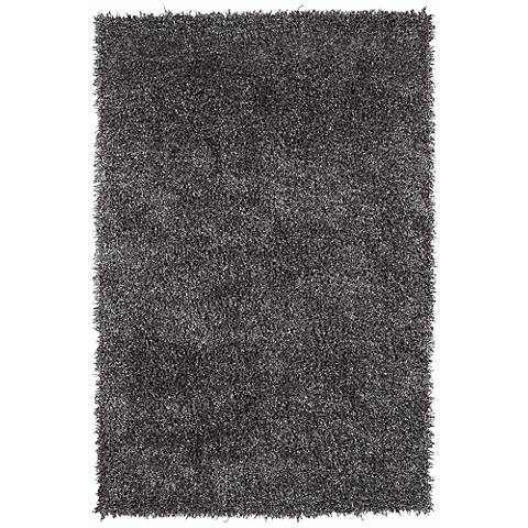 Belize BZ100 Gray Shag Area Rug