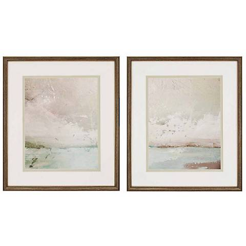 "Eastern Shore Set of 2 29"" High Giclee Wall Art"