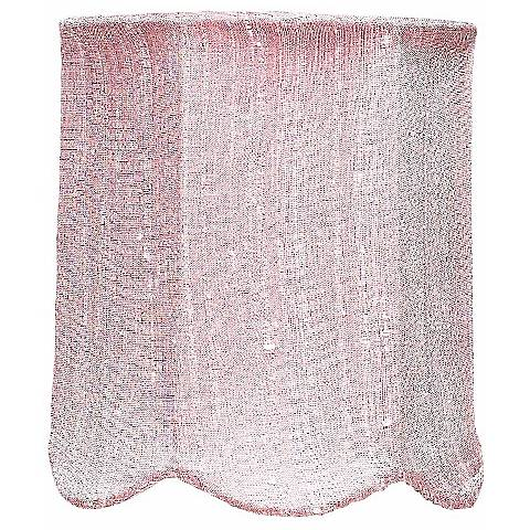Pink Scallop Silk Drum Shade 4x4x4.75 (Clip-On)