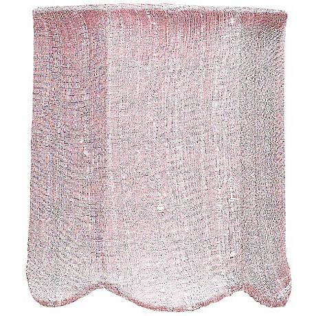 Pink Scallop Silk Drum Shade 4x4x4.75 (Clip-On)