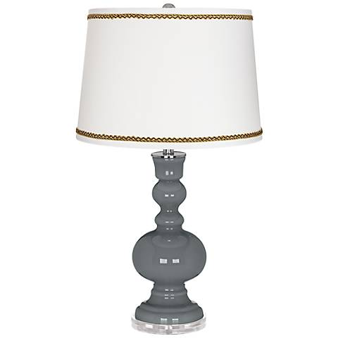 Software Apothecary Table Lamp with Twist Scroll Trim