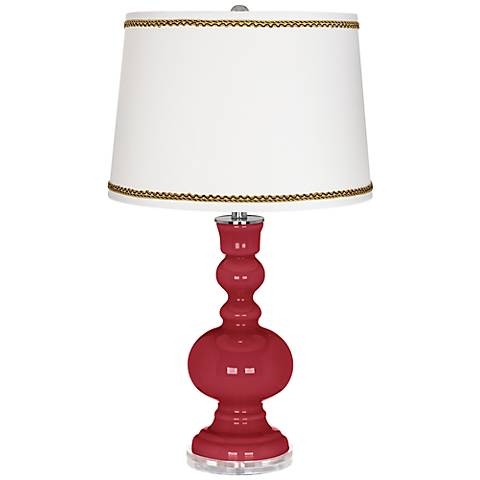 Samba Apothecary Table Lamp with Twist Scroll Trim