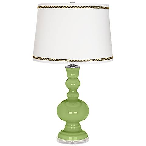 Lime Rickey Apothecary Table Lamp with Ric-Rac Trim