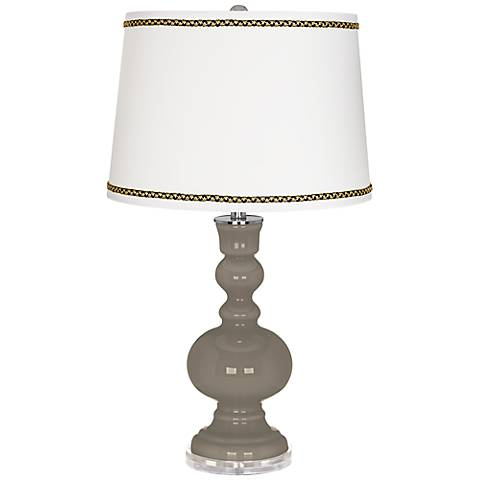 Backdrop Apothecary Table Lamp with Ric-Rac Trim