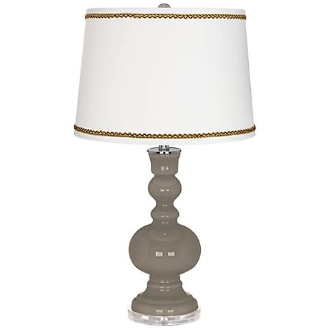 Backdrop Apothecary Table Lamp with Twist Scroll Trim