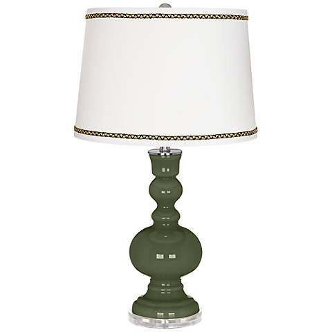 Secret Garden Apothecary Table Lamp with Ric-Rac Trim