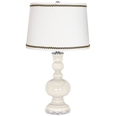 West Highland White Apothecary Table Lamp with Ric-Rac Trim