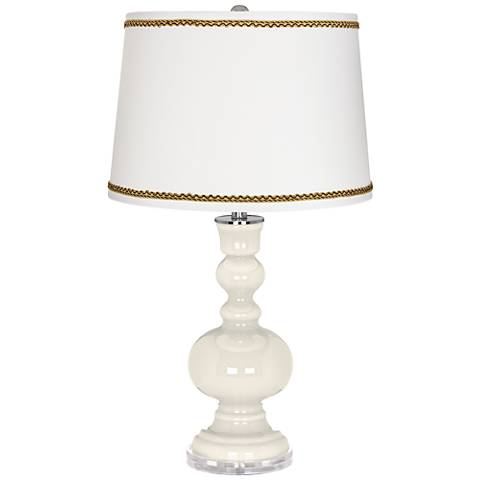 West Highland White Apothecary Table Lamp with Twist Scroll Trim