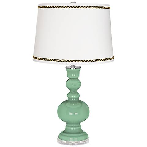 Hemlock Apothecary Table Lamp with Ric-Rac Trim