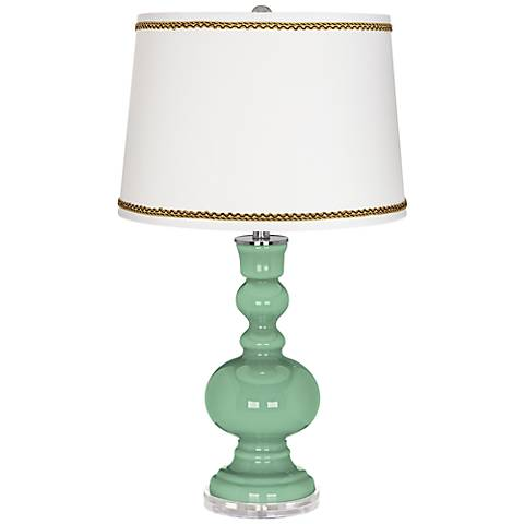 Hemlock Apothecary Table Lamp with Twist Scroll Trim