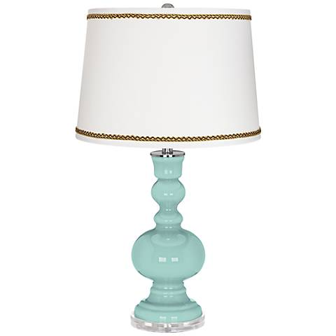 Cay Apothecary Table Lamp with Twist Scroll Trim