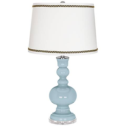 Vast Sky Apothecary Table Lamp with Ric-Rac Trim