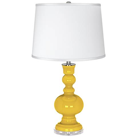 Citrus - Satin Silver White Shade Apothecary Table Lamp
