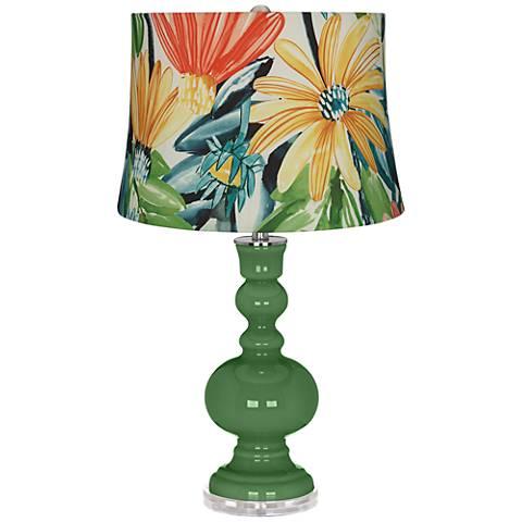 Garden Grove Multi-Color Daisies Apothecary Table Lamp
