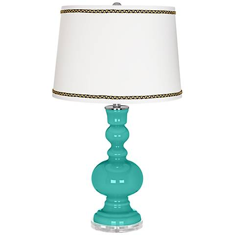 Synergy Apothecary Table Lamp with Ric-Rac Trim