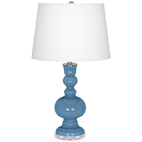 Secure Blue Apothecary Table Lamp