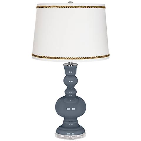 Granite Peak Apothecary Table Lamp with Twist Scroll Trim