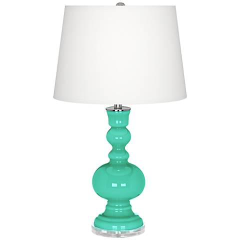 Turquoise Apothecary Table Lamp