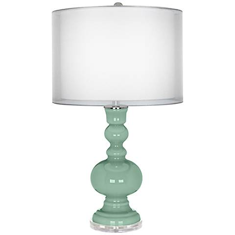 Grayed Jade Sheer Double Shade Apothecary Table Lamp