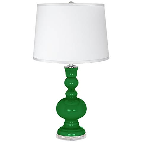 Envy - Satin Silver White Shade Apothecary Table Lamp