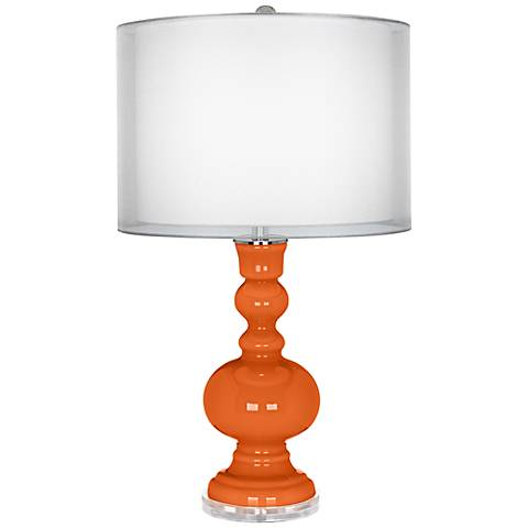 Invigorate Double Sheer Silver Shade Apothecary Table Lamp