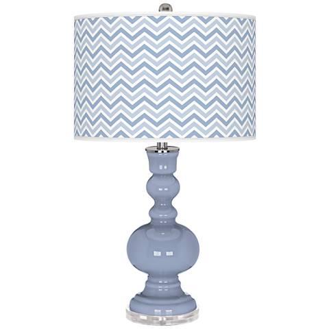 Blue Sky Narrow Zig Zag Apothecary Table Lamp