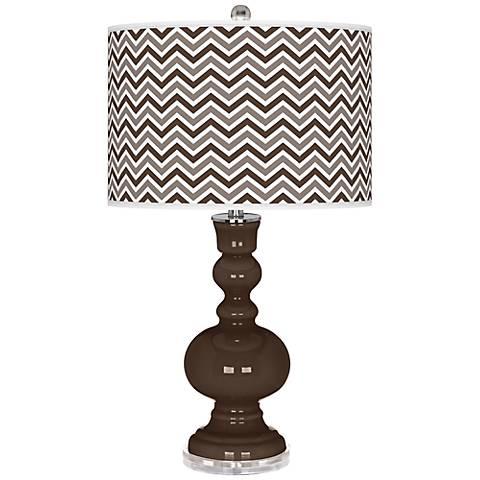 Carafe Narrow Zig Zag Apothecary Table Lamp