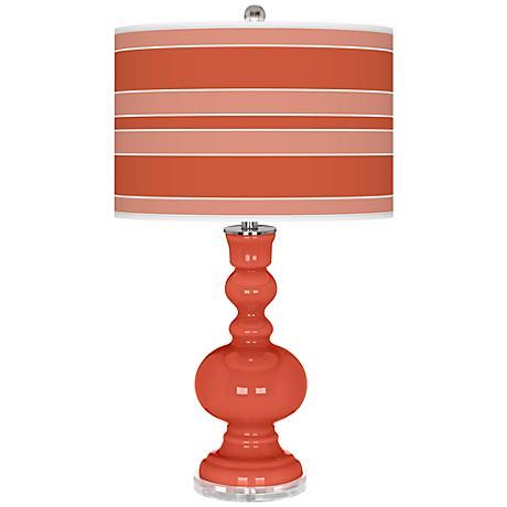 Koi Bold Stripe Apothecary Table Lamp